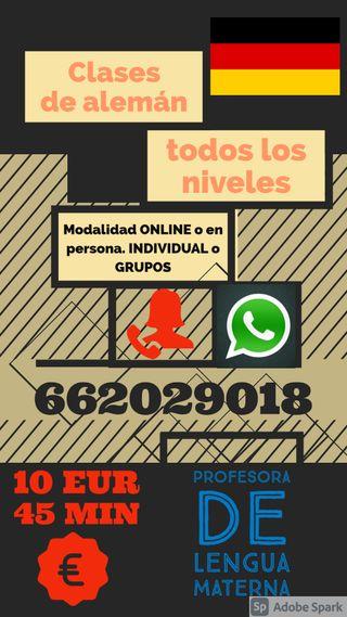 CLASES DE ALEMÁN DE NATIVA ONLINE O EN PERSONA