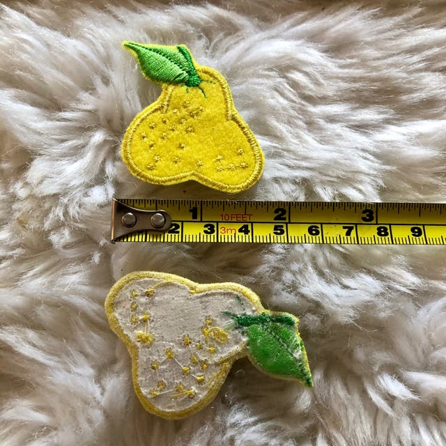 Pair of Yellow Fruit Embroidered Patch