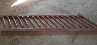 Escalera baranda de madera