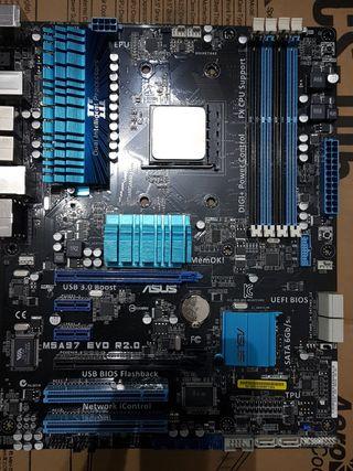 Placa base Am3b + Procesador FX 8100