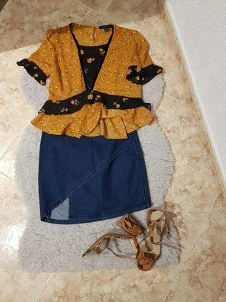 Camiseta y Falda
