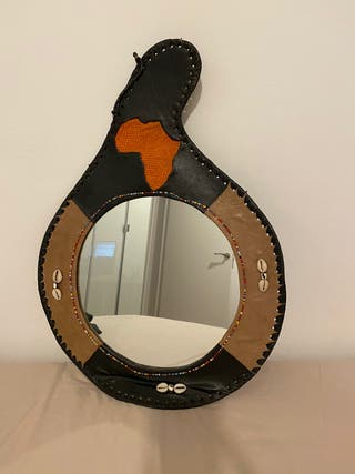 Espejo decorativo africano