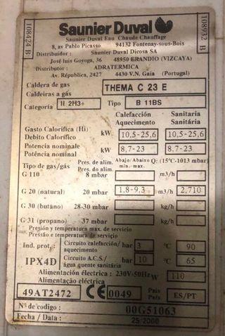 Caldera Saunier Duval THEMA C 23 E