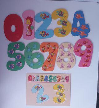 Puzzle números y Domino animales