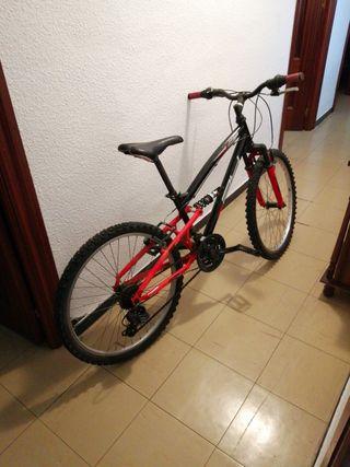 """Bicicleta doble suspensión ruedas 24"""""""