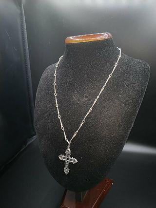 cadena de plata clavos de la cruz diseño