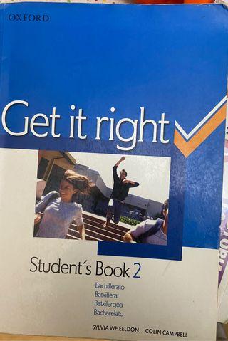 Get it right student's book 2 bachillerato oxford