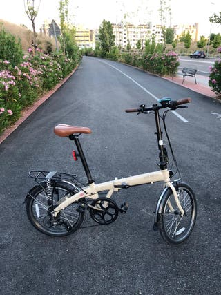 """Bicicleta plegable Seminuevo BICKERTON 20"""" crema"""