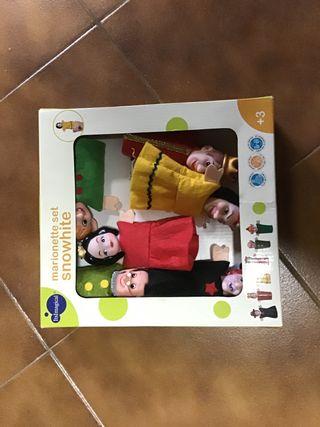 Set marionetas blancanieves imaginarium