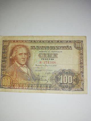 billete de 100 pesetas 1948