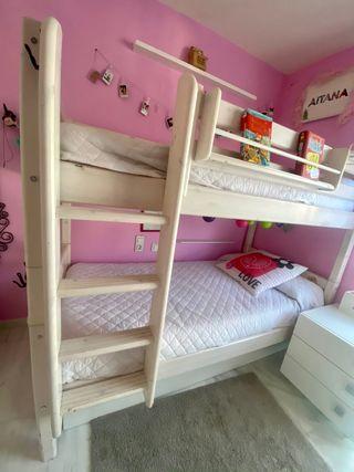 Litera cama Flexa dormitorio madera pino maciza