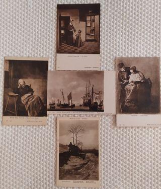 Postales Antiguas Maestros Holandeses.