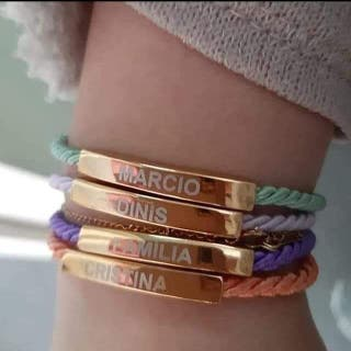 pulseras bañadas en oro
