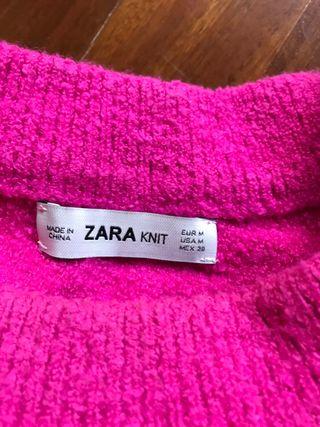 Jersey largo ROSA FUCSIA Zara