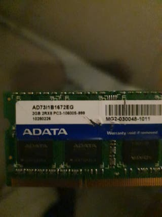 Memoria Ram ddr3 Adata 2Gb.