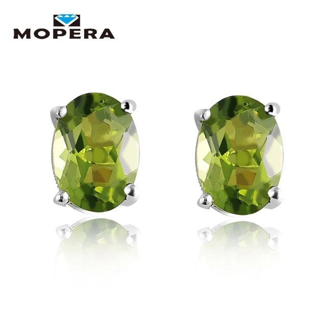 1,72ct Oval Natural Gemstone Earrings Genuine