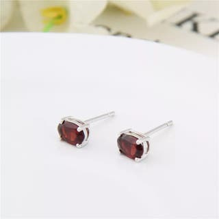 1,72ct Oval Natural Gemstone Earrings Genuine