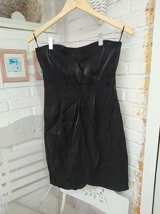 Vestido de fiesta negro palabra de honor