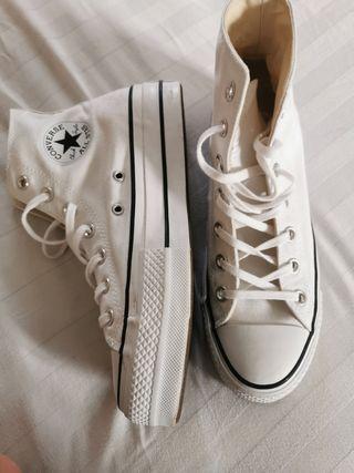 converse white with platform