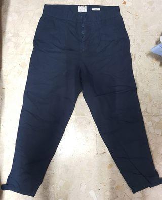 Pantalon de pinza azul marino