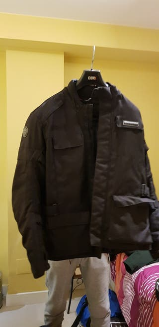 chaqueta de invierno, moto hombre XL negra