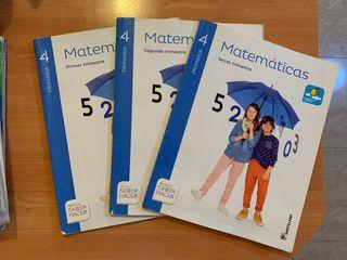 Libro de Matemáticas de 4 de primaria
