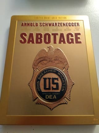 Steelbook. Sabotage. Bluray