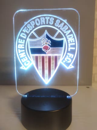 Lámpara metacrilato equipo futbol