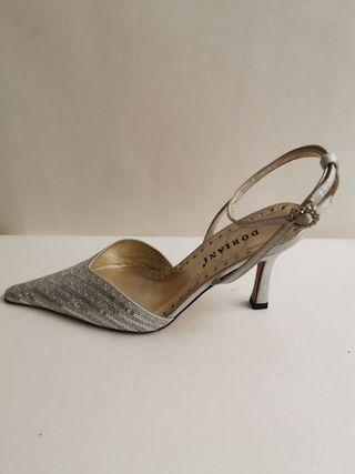 sandalia doriani M2612 oro y plata