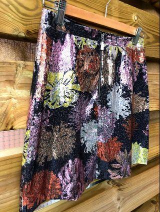 Falda corta de lentejuelas - S