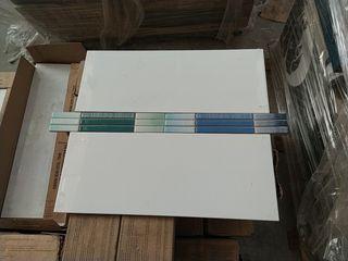 Azulejo blanco con cenefa de regalo