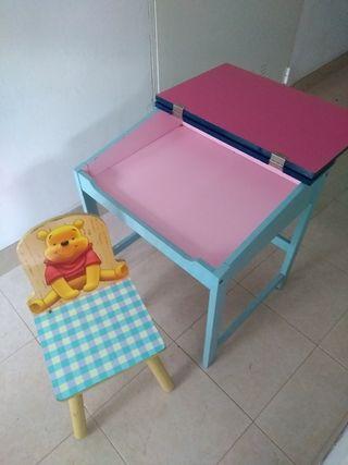 pupitre y silla