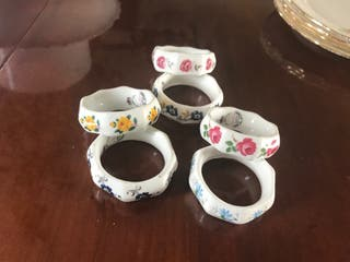 Servilleteros de porcelana inglesa