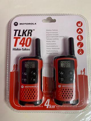 Walkie Talkie Motorola TLKR T40 Nuevos