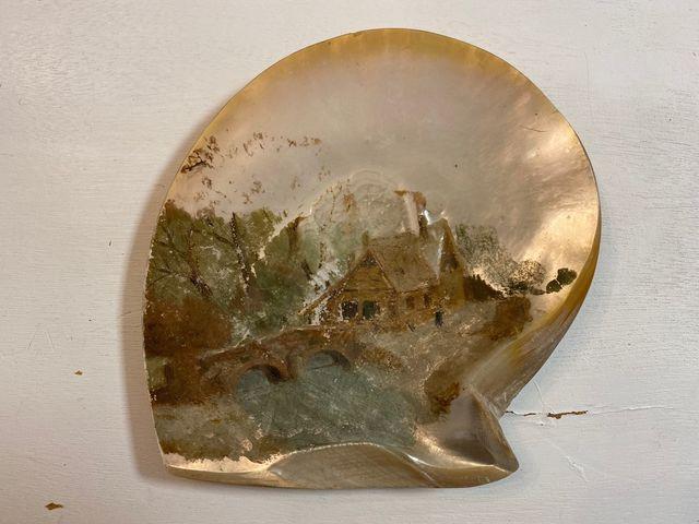 Pareja de óleos sobre madreperla s.XIX