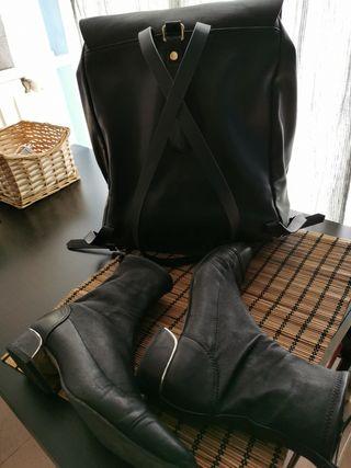 botines y mochila