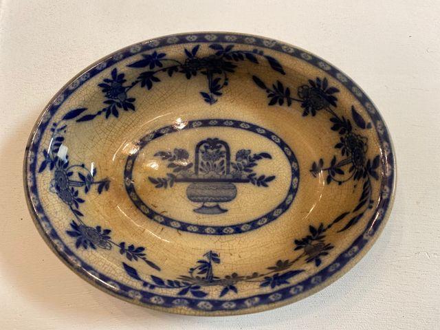 Antiguo plato porcelana Minton Delft original