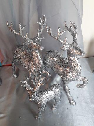 glitter reindeers