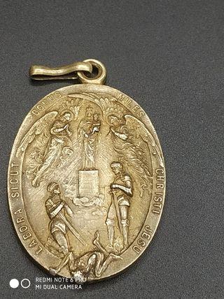 medalla antigua siglo xix virgen del pilar
