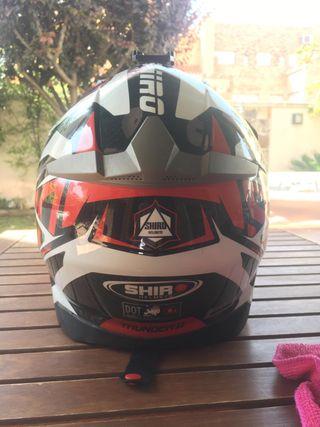 Casco moto enduro Shiro Mx-917 thunder II