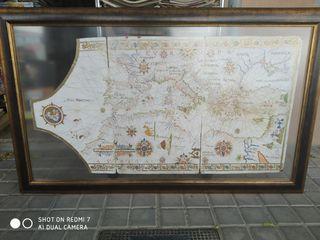 mapa carta Náutica reproducción