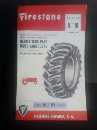 folleto Firestone tractores 1961