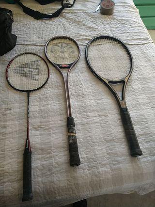 raqueta de bádminton,squash y fronton