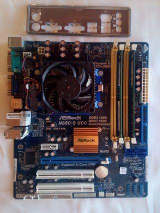 Placa AM2 AM3 + Athlon 455 + 4 Gb ddr3