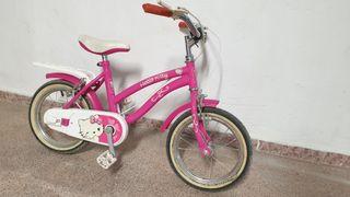 Bicicleta Infantil de niña Hello Kitty 14 pulgadas