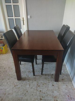 Mesa de comedor madera extensible
