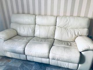 URGE - Sofá de piel blanca