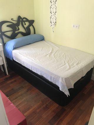 Cama individual canapé
