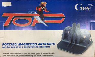 Porta esquís magnéticos