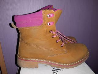 Botas de chica Nº37 color camel y rosa
